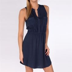 Splendid Womens Contemporary Sleeveless Shirtdress