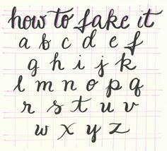 How to Fake Great Handwriting - FREE Printable at BreezyCheetahPop.com