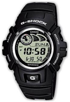 CASIO G-SHOCK Mod. G-2900F-2V G-CLASSIC Shock resistant. e-data memory secret 40. 4 daily alarms Snooze alarm Hourly Time Signal Full auto-calendar WR 200mt