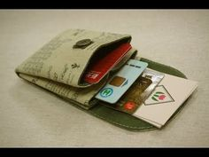 Kleiner/Mini Geldbeutel - mini purse DIY - YouTube