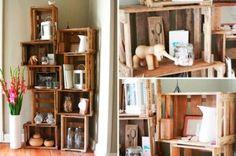 Decore a sua casa com caixotes de feira