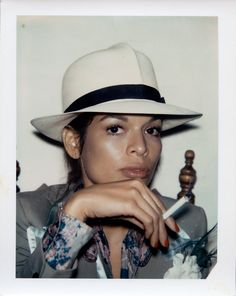 Bianca Jagger, 1971 (Polaroid) © The Andy Warhol Foundation for the Visual Arts, Inc. See other ideas and pictures from the category menu…. Faneks healthy and active life ideas Bianca Jagger, Mick Jagger, Sarah Harris, Turbans, 70s Fashion, Vintage Fashion, Fashion History, Fedora Fashion, Vintage Style