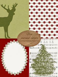 FREE Christmas Journal Cards : Sweet Designs By Hanna