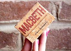 """Macbeth - William Shakespeare / Minilibros Artesanales / Bukkis Nº3 / Colección """"Detrás del telón"""""""