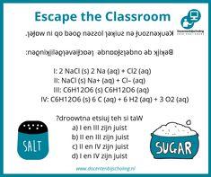 Training Escape the Classroom In een Escape the Classroom lost een groepje leerlingen een aantal spannende puzzels op. Ondertussen wordt er van alles geleerd: letterlijk spelenderwijs leren. Escape the Classroom is er voor alle leeftijden, niveaus en over elk denkbaar onderwerp. Je leerlingen krijgen er enorm veel leerplezier van! #kraakdecode #escapetheclassroom #scheikunde Escape Room, Escape The Classroom, Hair Beauty, Abs, Words, School, Pep Rally, Wood Games, Crunches