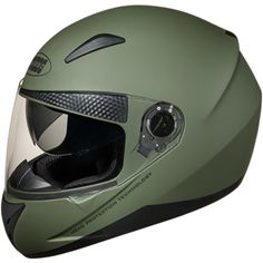 Outer Shell injected from special high impact grade of engineering thermoplastic. Multiposition articulating optically true injected polycarbonate visor duly silicon hard coated for scratch resistance properties. regulated density EPS concussion padding lined with specially treated anti allergic velveteen. The helmet is equipped with a second sun visor which is made from tinted Polycarbonate & is duly silicon hard coated. Removable and replaceable liners. Full Face Helmets, Military Green, Engineering, Shell, Sun, Hard Hats, Technology, Conch, Bookshelves
