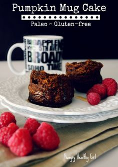 The quickest and easiest pumpkin breakfast. The delicious Pumpkin Mug Cake will be your new go-to for a simple and tasty breakfast idea. #pumpkin #Paleo