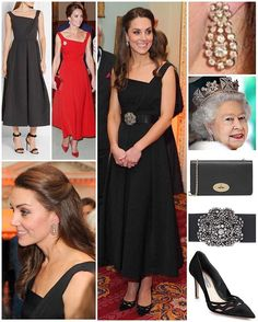 It was a familiar look for the Duchess tonight as she attended Place2Be's Wellbeing in Schools awards evening. She was back in Preen by Thornton Bregazzi's 'Finella' 50's inspired midi dress, only this time in black. We first saw the Duchess wear the red version during a reception at the Victoria Government House in Canada. The pleated stretch crepe midi-dress features an ultra elegant silhouette with a draped bodice and box-pleated skirt. There are still a few available in black in…