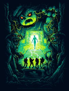 Limited edition screenprint produced in conjunction with Gallery 1988 for the 20th Anniversary of Ghostbusters. Variant Print by Dan Mumford.