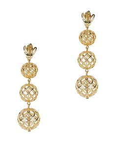 Shop the Lele Sadoughi Tiered Pineapple Earrings $275