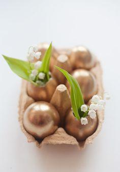 DIY Golden Easter Egss