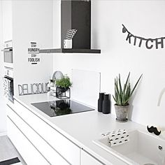 Image about kitchen in room inspo by ♡ Rikke Worm Cosy Kitchen, Eclectic Kitchen, Kitchen Dinning, Scandinavian Kitchen, Living Room Kitchen, Kitchen Interior, Kitchen Decor, Kitchen Ideas, Home Goods Decor
