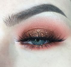Apply Sorbet into the crease. Blend Poppy and Morocco in the crease, keeping it lower than Sorbet. Apply Flame Thrower to the lid. Highlight the brow bone