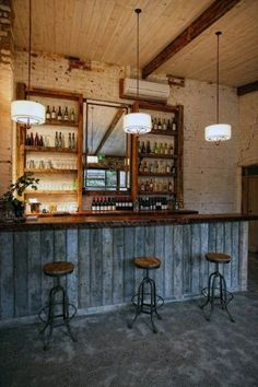 Love this barn bar look. Would love this in my basement! Love this barn bar look. Would love this in my basement!