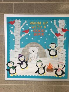 Warm up with a good book / winter bulletin board Warm . - Warm up with a good book / winter bulletin board Warm up with a good book - Reading Bulletin Boards, Winter Bulletin Boards, Preschool Bulletin Boards, Bulletin Board Display, Bullentin Boards, Library Boards, Library Ideas, Office Boards, School Library Displays