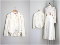 vintage Gibson Girl costume  Victorian skirt & jacket by AgeofMint