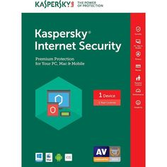 Kaspersky Internet Security (1-Device) (1-Year Subscription) - Android|Mac|Windows|iOS, KAS018800F149