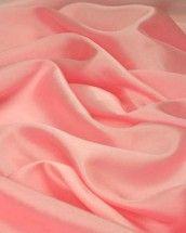 Slub Silk Habotai Fabric - Sugar Pink