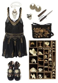 """Sin título #164"" by funeralparade ❤ liked on Polyvore featuring DIANA BROUSSARD, Miss Selfridge, Majesty Black, Dolce&Gabbana and H&M"