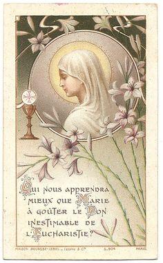1919 Antique French Catholic Holy Prayer Card by 12StarsVintage