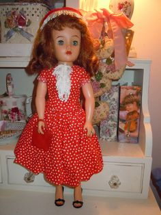 "Vintage 1950s 18"" Ideal Miss Revlon Doll VT 18 Custom Made Clothing w Jewelry | eBay"