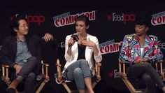 the walking dead crying nycc new york comic con lauren cohan #humor #hilarious #funny #lol #rofl #lmao #memes #cute