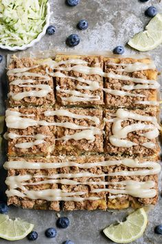 This Paleo Lemon Zucchini Coffee Cake is tender, moist, and has the best crumb topping! #paleo #glutenfree #healthy #easyrecipe #dairyfree | realfoodwithjessica.com @realfoodwithjessica Dairy Free Recipes, Paleo Recipes, Real Food Recipes, Muffin Recipes, Delicious Recipes, Bread Recipes, Baking Recipes, Paleo Bread, Paleo Baking
