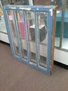 """$59 - We have some antique wood framed windows that are a rather unique style with 4 long skinny pieces of glass. Overall window size is 28"""" x 31"""". ***** In Booth EF at Main Street Antique Mall 7260 E Main St (east of Power RD on MAIN STREET) Mesa Az 85207 **** Open 7 days a week 10:00AM-5:30PM **** Call for more information 480 924 1122 **** We Accept cash, debit, VISA, Mastercard, Discover or American Express"""