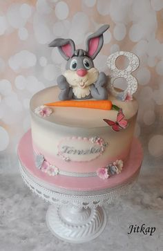 Birthday cake with bunny by Jitkap
