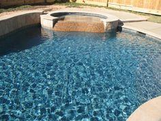 Blue Lagoon PebbleTec w/ shimmering sky Color - Pools & Spas Forum - GardenWeb