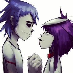 Forget it I ain't finishing that. Gorillaz 2 D, Gorillaz Noodle, Fan Fiction, 2d And Noodle, Brother And Sister Love, Cartoon Man, Shadow Art, Sketch Painting, Beautiful Voice