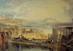 Joseph Mallord William Turner, 'Lancaster, from the Aqueduct Bridge' circa 1825
