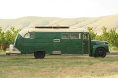 The Emerald Gypsy - Vintage Bus Conversions (Side View)