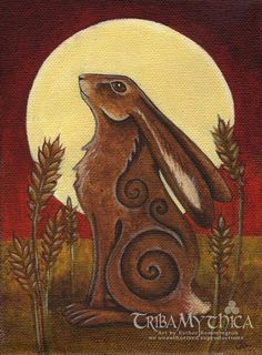 'Hare Moon' By Esther Remmington (c) no unauthorised reproductions Giclee Art Prints now available from the Triba Mythica Etsy Shop https://www.etsy.com/uk/shop/tribamythica