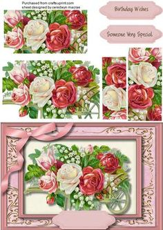 Lovely Mixed Roses In a Wheelbarrow  on Craftsuprint - Add To Basket!