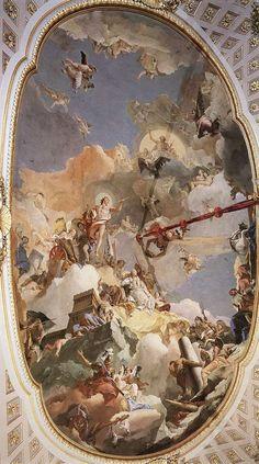 Tiepolo.Apoteosis de la monarquía española - Salón del trono del palacio real de Madrid. 1764