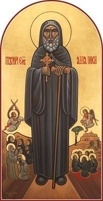 GREAT SAINT ABBA MOSES THE BLACK .~ by Guirguis T Boktor. Early Christian, Christian Art, Religious Icons, Religious Art, St Moses The Black, Renaissance Time, Roman Church, Find Icons, Religion