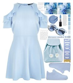"""color blue style"" by licethfashion ❤ liked on Polyvore featuring New Look, MAC Cosmetics, Pinko, Sugarbaby, Anja, polyvoreeditorial and licethfashion"
