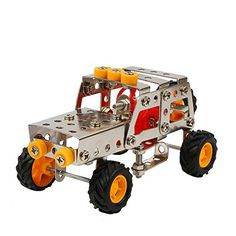 Boy toysUROPHYLLA DIY Assemble toy Construction Metal Truck Vehicles Model Kits Toy Car Model Educational Toy Gift for 8 Years  Up 122 Pcs >>> Learn more by visiting the image link.