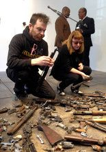 An exhibition of artworks made from guns taken off of the streets of New Orleans.