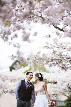 spring engagement photos by Kunioo | via junebugweddings.com