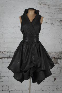 Blonde & Wise Trench Dress Black Snake Print | Moo Designs