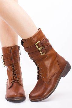 Womens brown boots flat heel