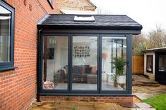 Our Modern Conservatory Extension- Before and After (Home Renovation Project - Mummy Daddy Me Lean To Conservatory, Conservatory Kitchen, Conservatory Extension, Conservatory Decor, Conservatory Interiors, House Extension Design, Glass Extension, 1930s Kitchen Extension, Garage Extension