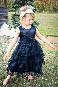 Black Lace Special Occasion Gown