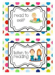 FREEBIE - This PDF file includes Daily 5 cards for students.