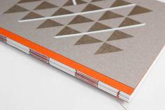 Notebook Handbedrucktes Designer Notizbuch von Stoff Schere Papier auf DaWanda.com