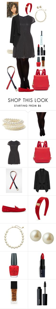 """""""Polka dot dress (Aoife)"""" by shulabond on Polyvore featuring Forever 21, City Chic, Manon Baptiste, FOSSIL, Lands' End, Gucci, Salvatore Ferragamo, Kate Spade, Carolee and OPI"""
