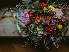 Kolorowe kwiaty na ślub