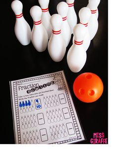 Fractions Bowling.. so much fun!! FREE recording sheet and directions on the blog